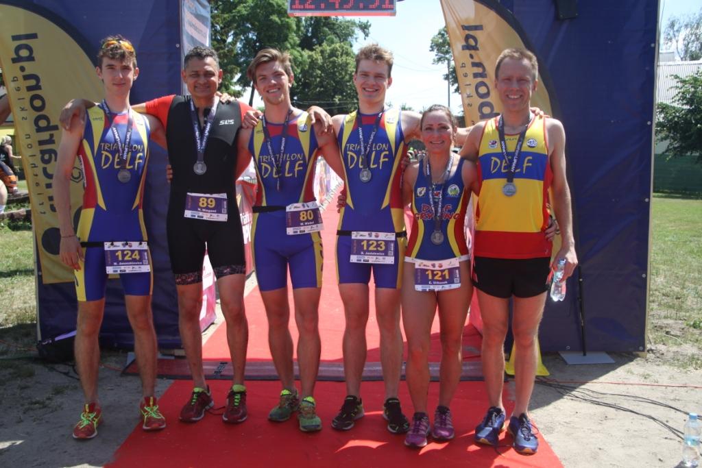 Ekipa Delfa w Triathlonie w Lipianach 2019