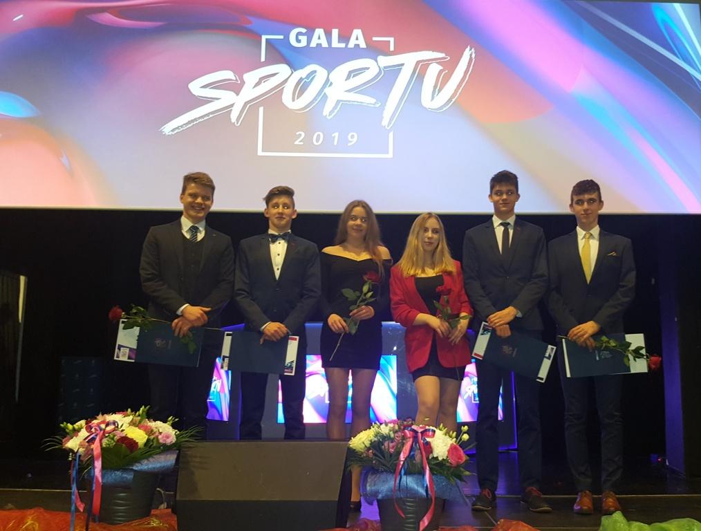 Zawodnicy Delf podczas Gali Gryfińskiego Sportu 2019 roku