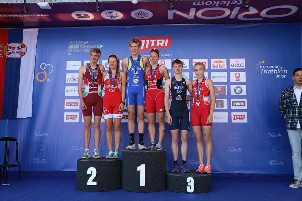 Julia Sanecka na podium Pucharu Europy Juniorów w Belgradzie 2019