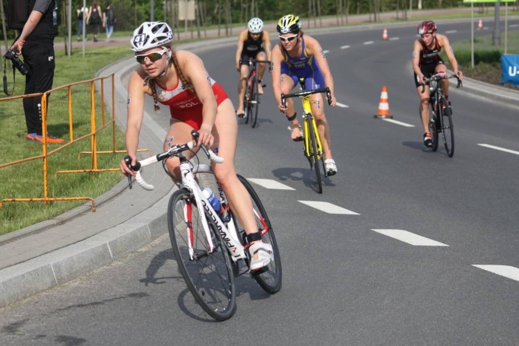 Julia Sanecka podczas PE w Triathlonie Elity Kobiet - Olsztyn 2019