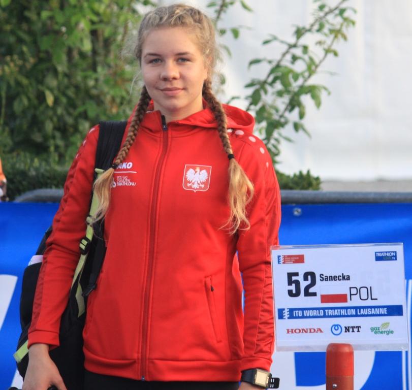Sanecka Julia w Lozannie podczas Mistrzostw Juniorów w Triathlonie w roku 2019