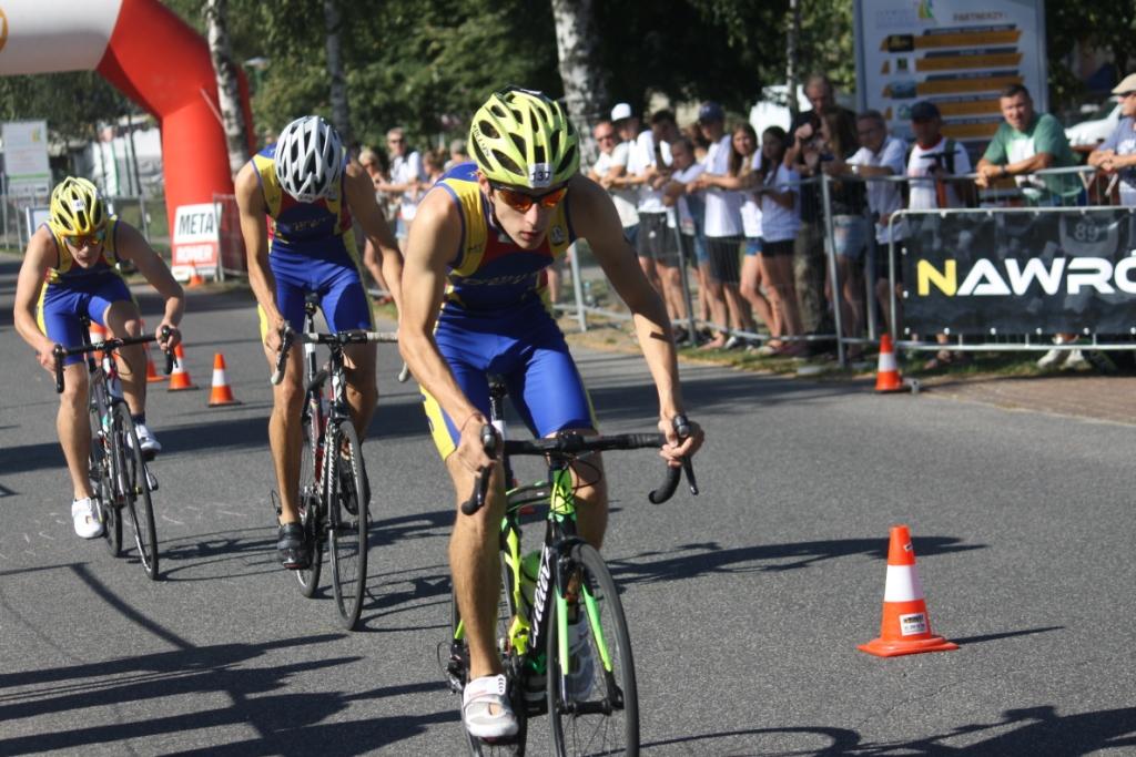 Juniorzy Delfa Gryfino podczas MP Juniorów w Triathlonie - Sława 2019