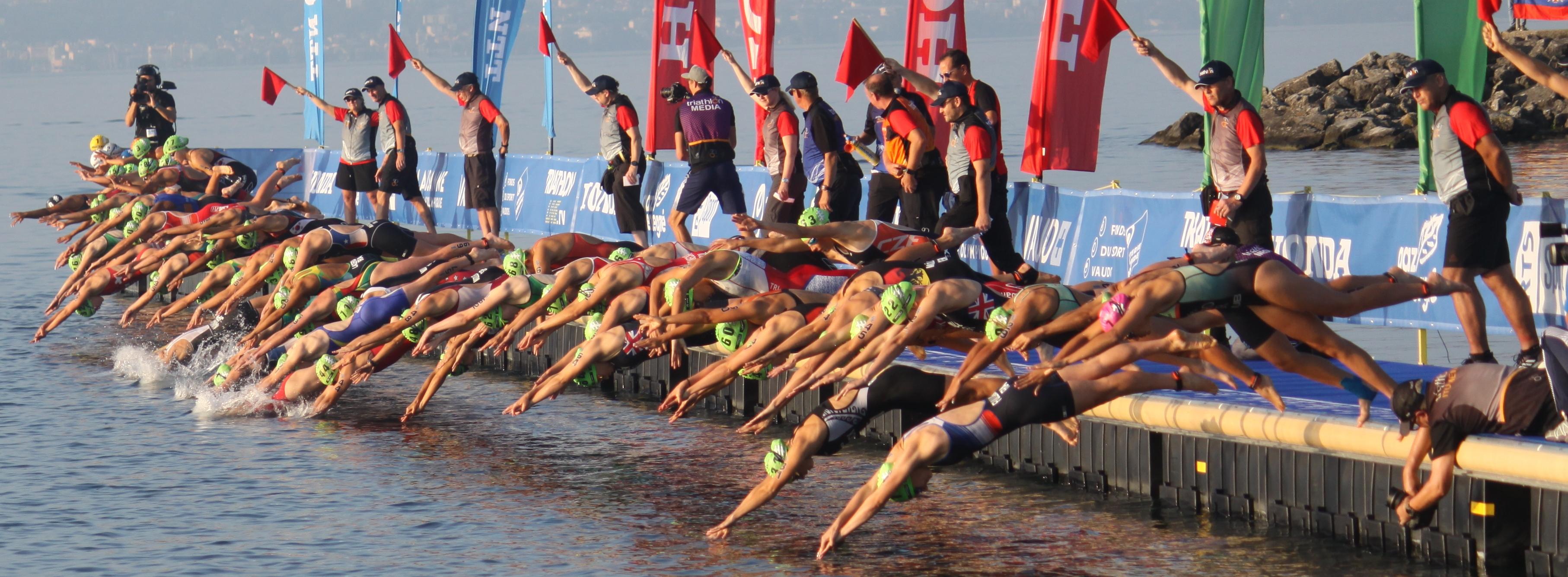 Start Juniorek do Mistrzostw Śiata w Triathlonie - Lozanna 2019