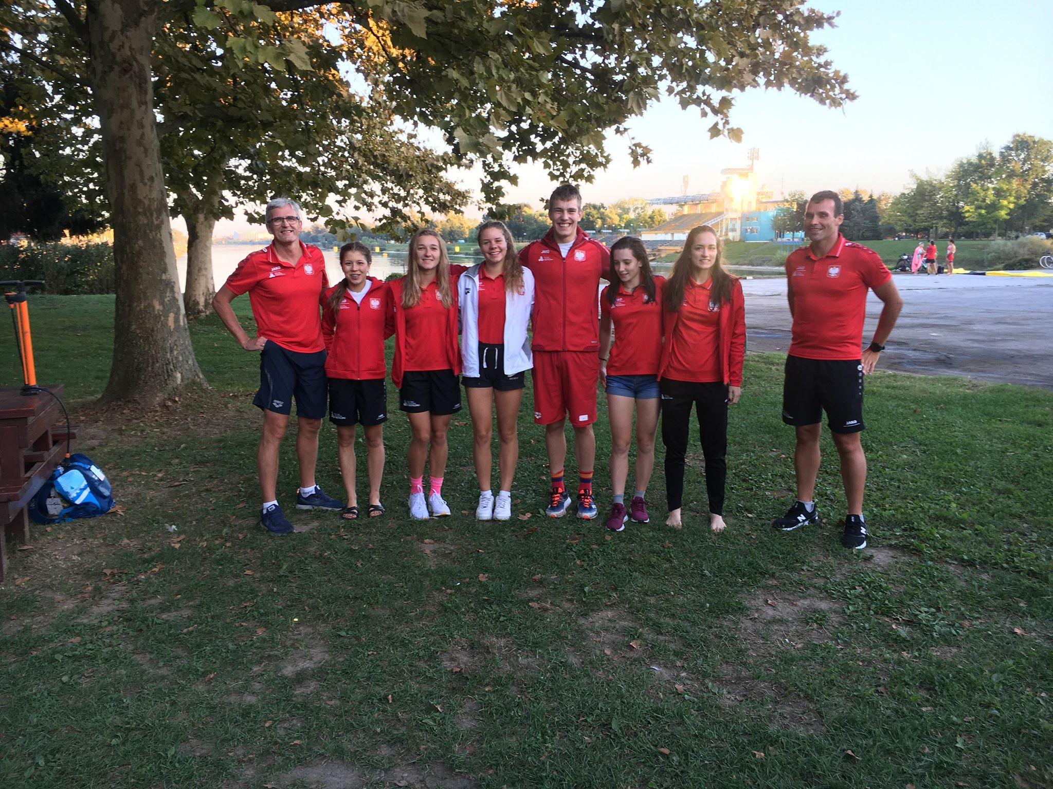 Reprezentacja Polski podczas PE Juniorów Triathlonie w Zagrzebiu 2019