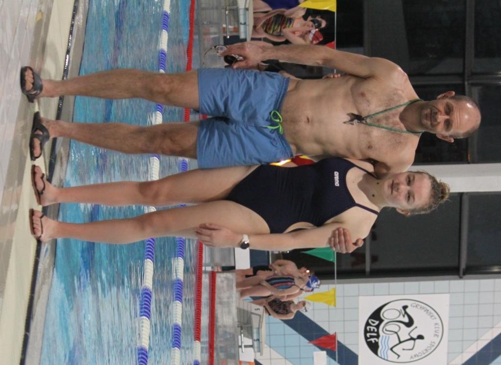 Kalina Grabowska z trenerem Markiem Saneckim
