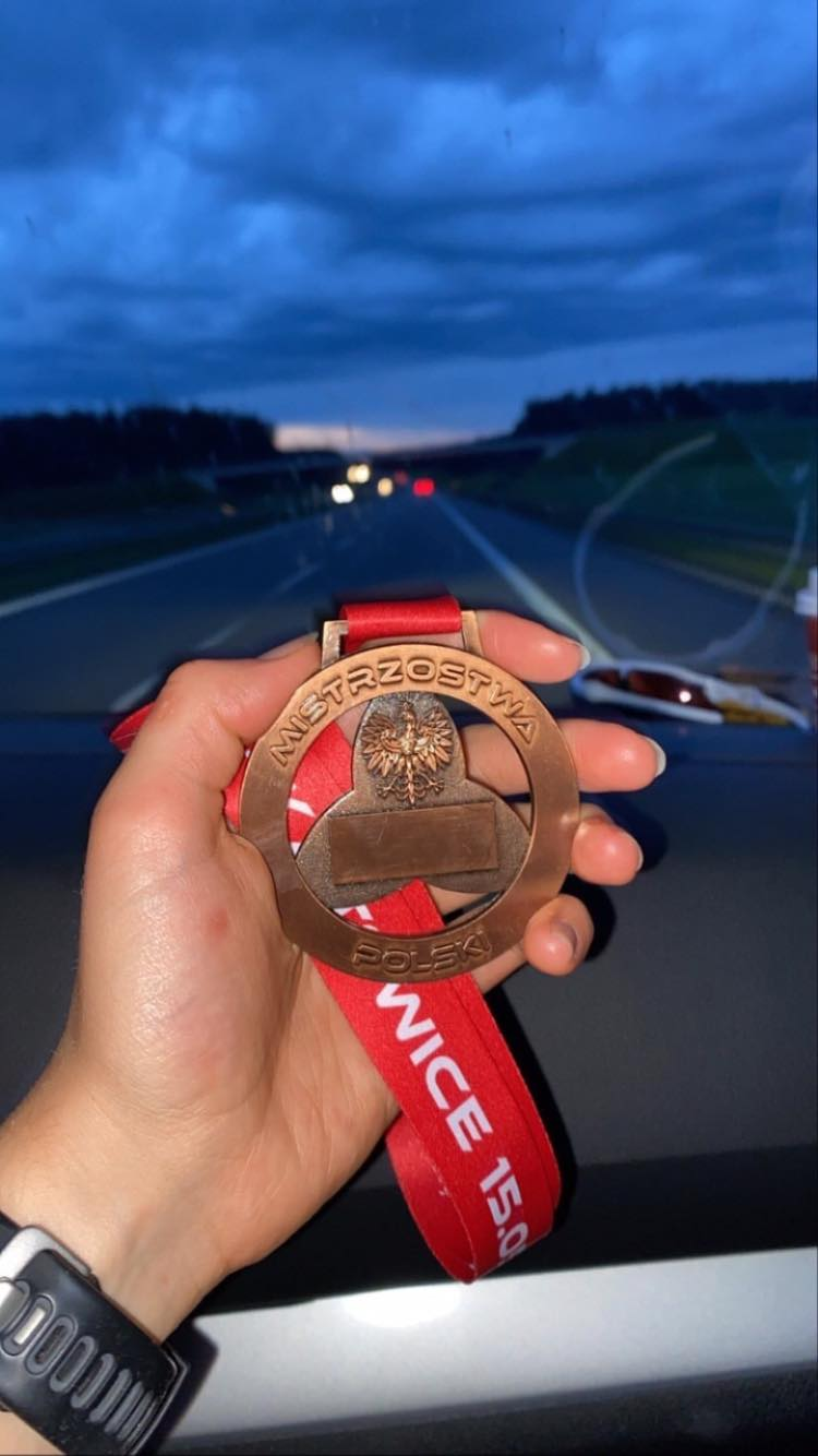 Medal MP w Triathlonie - supersprint Julia Sanecka