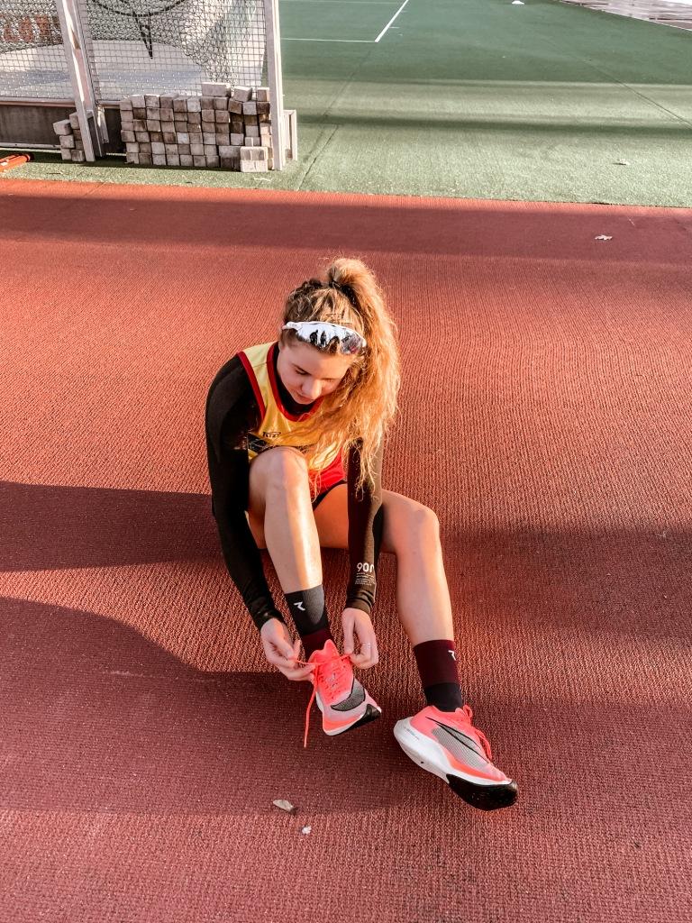 Sanecka Julia przed testem biegowym w Wałczu 2021